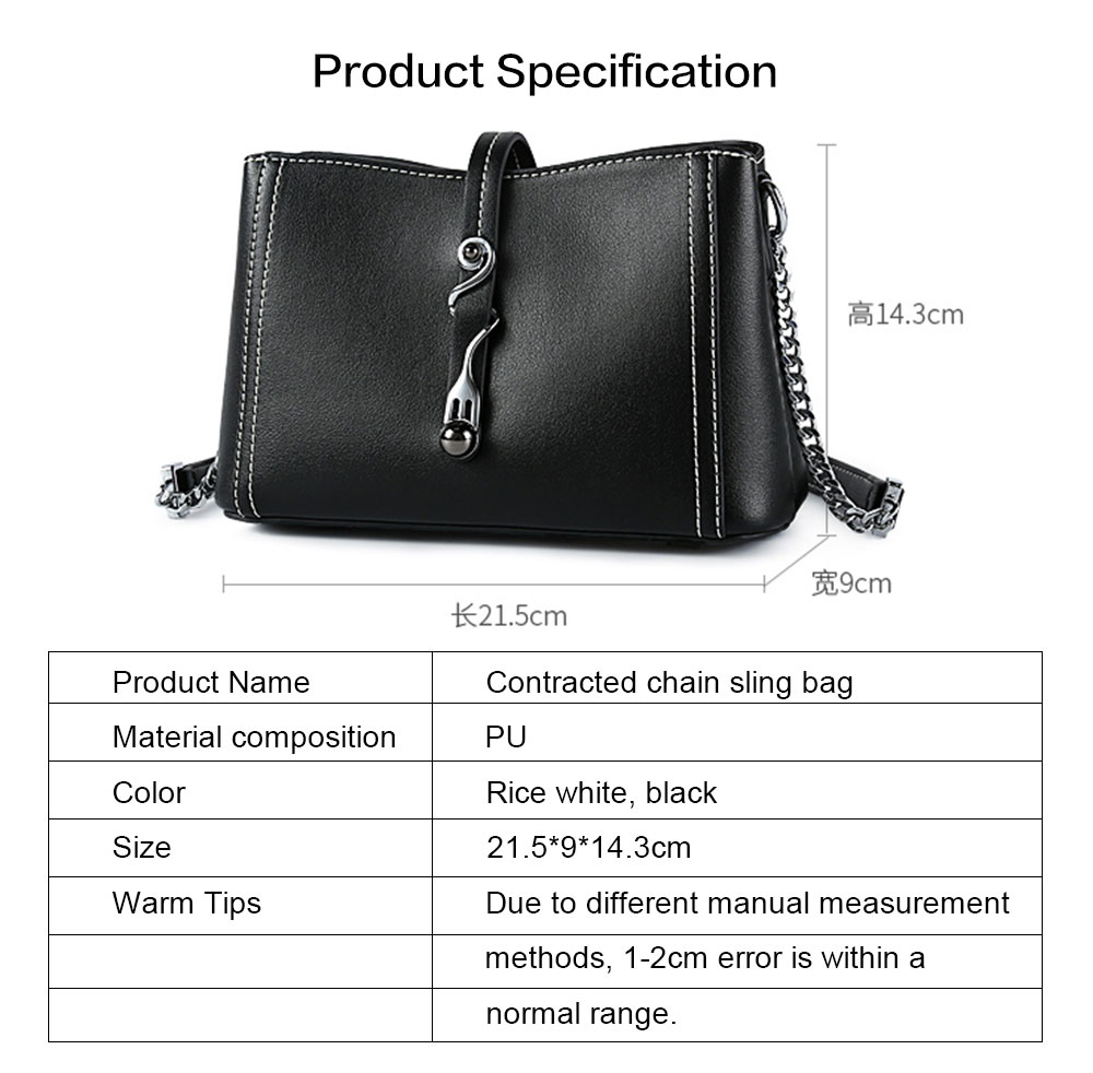 2019 New Fashion Chain Women Cross shoulder Bag Korea-style Contracted Sling Bag  Personality Fashion handBag 8