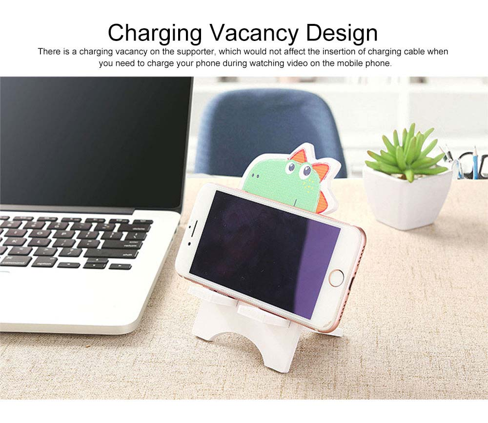 Creative Cute Cartoon Animal Model Mobile Phone Supporter, Touch Wood-Plastic Board Tablet Computer Holder 4