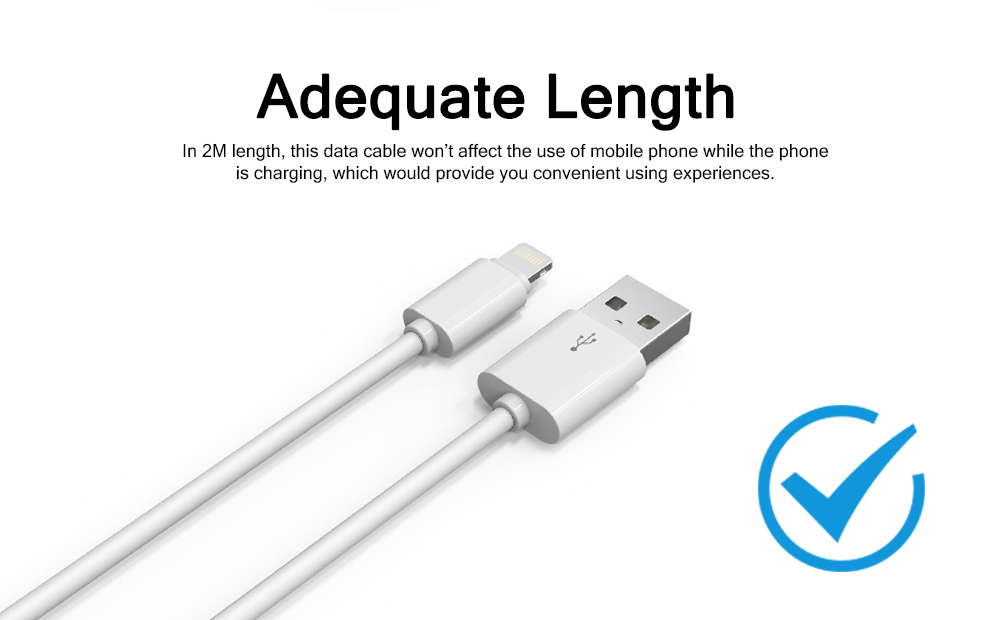 2M Micro USB Android iPhone PVC Rubber Data Cable Accurate Fit Speed Transfer Mobile Phone Data Wire 5