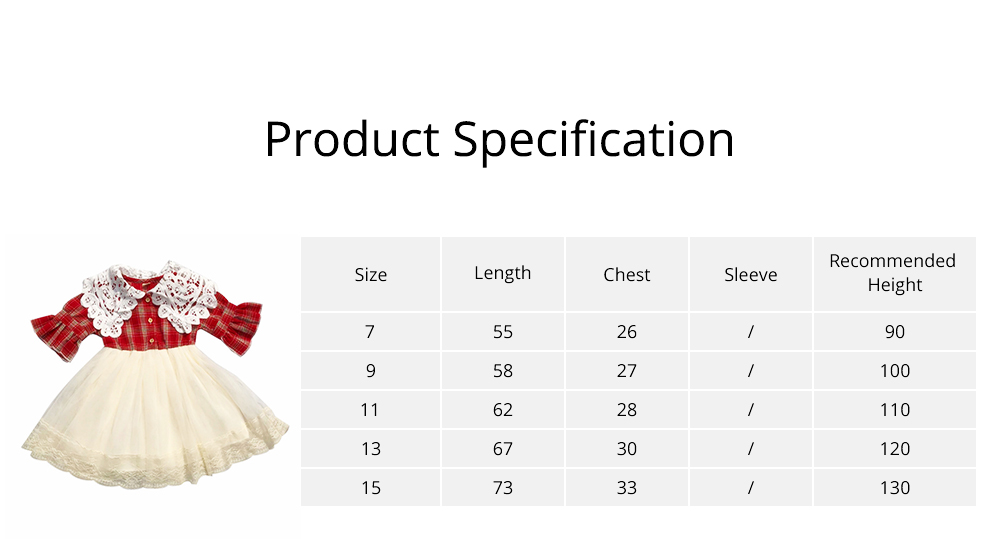 Plaid shirt Bubble Dress for Girls Double-side Shoulder Lace High-quality Cotton Fabric Lining Sweet Style One-piece 6