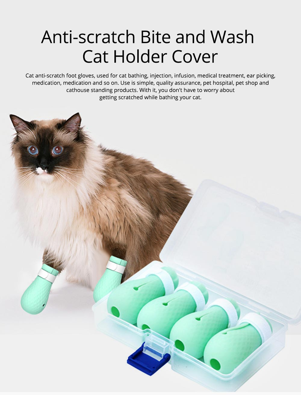 Anti-scratch Bite and Wash Cat Bags Feet Holder Cover for Cutting Nails or Bathing Cat Feet Holding Artifacts Pet Products 0