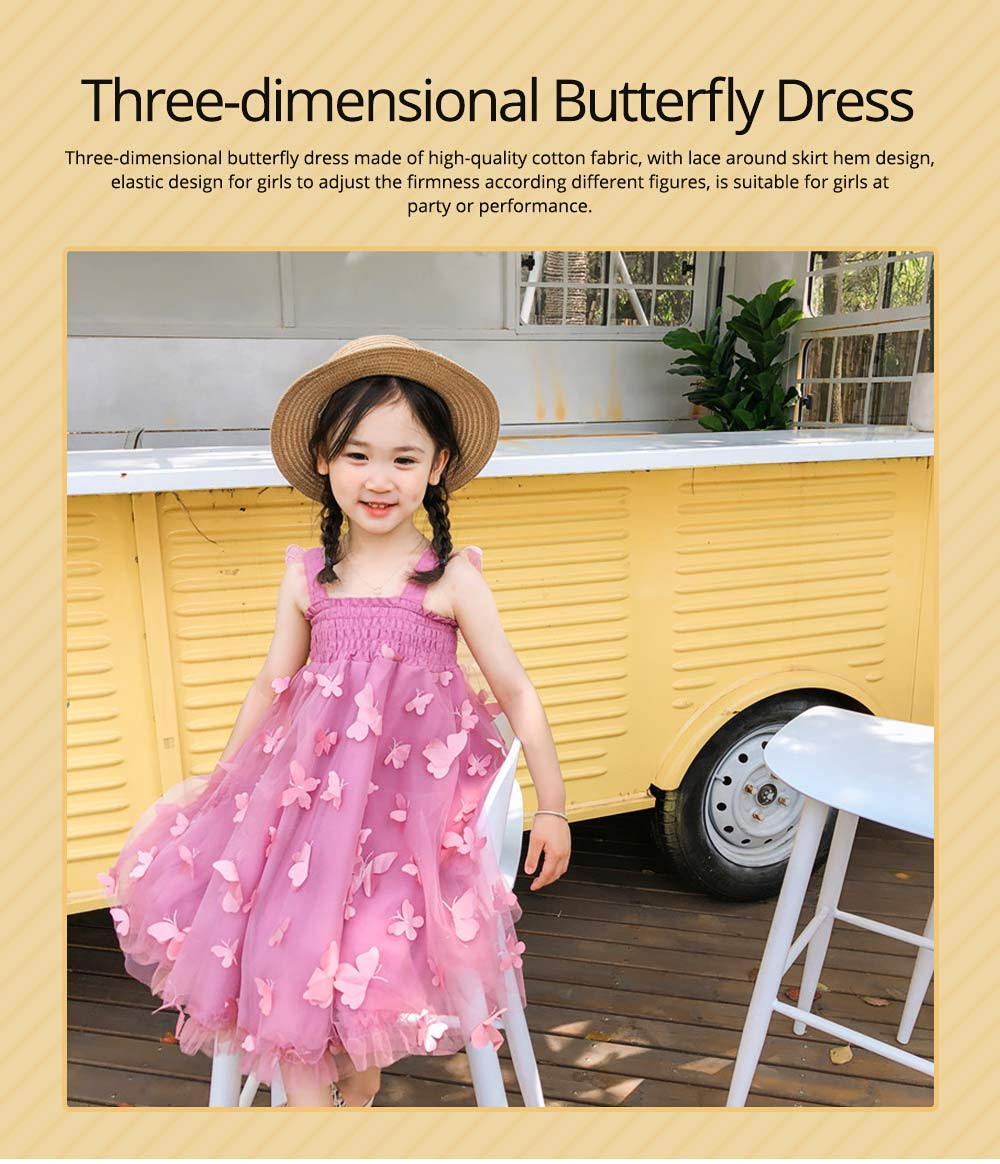 2019 Three-dimensional Lace Butterfly Dress for Girl Summer Party Dress Performance Costume & Butterfly Wings 0