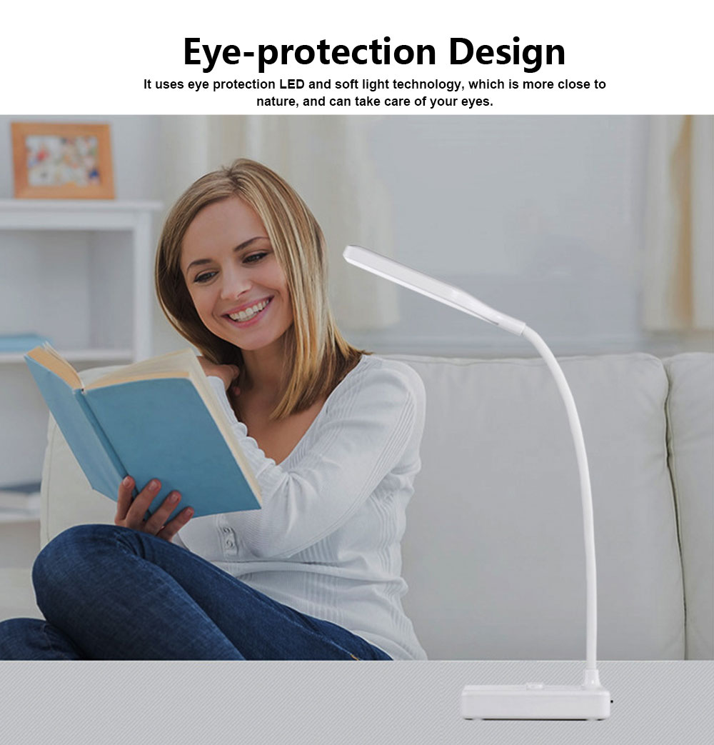 Chargeable Eye-protection Lamp for Study LED Creative Bedside Lamp Chargeable Little Lamp for Student 2