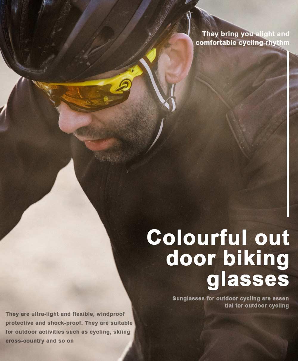 Colourful Outdoor Biking Glasses Sports Outdoor POC Riding Glasses Sandproof Sunglasses 0