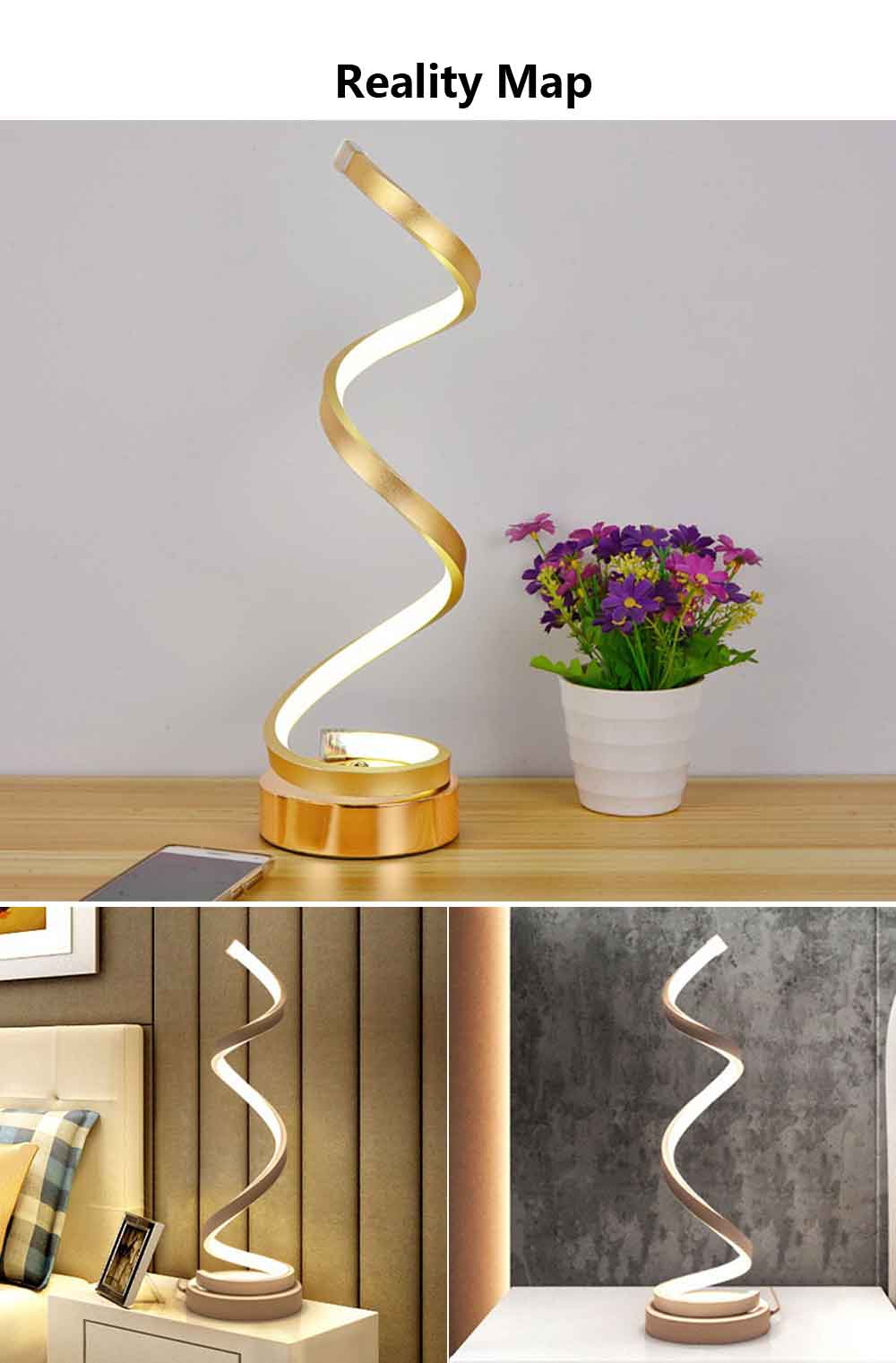 Modern Contracted LED Study Lamp Adjustable Acrylic LED Lamp Eye-protection Bedside Night Light 6