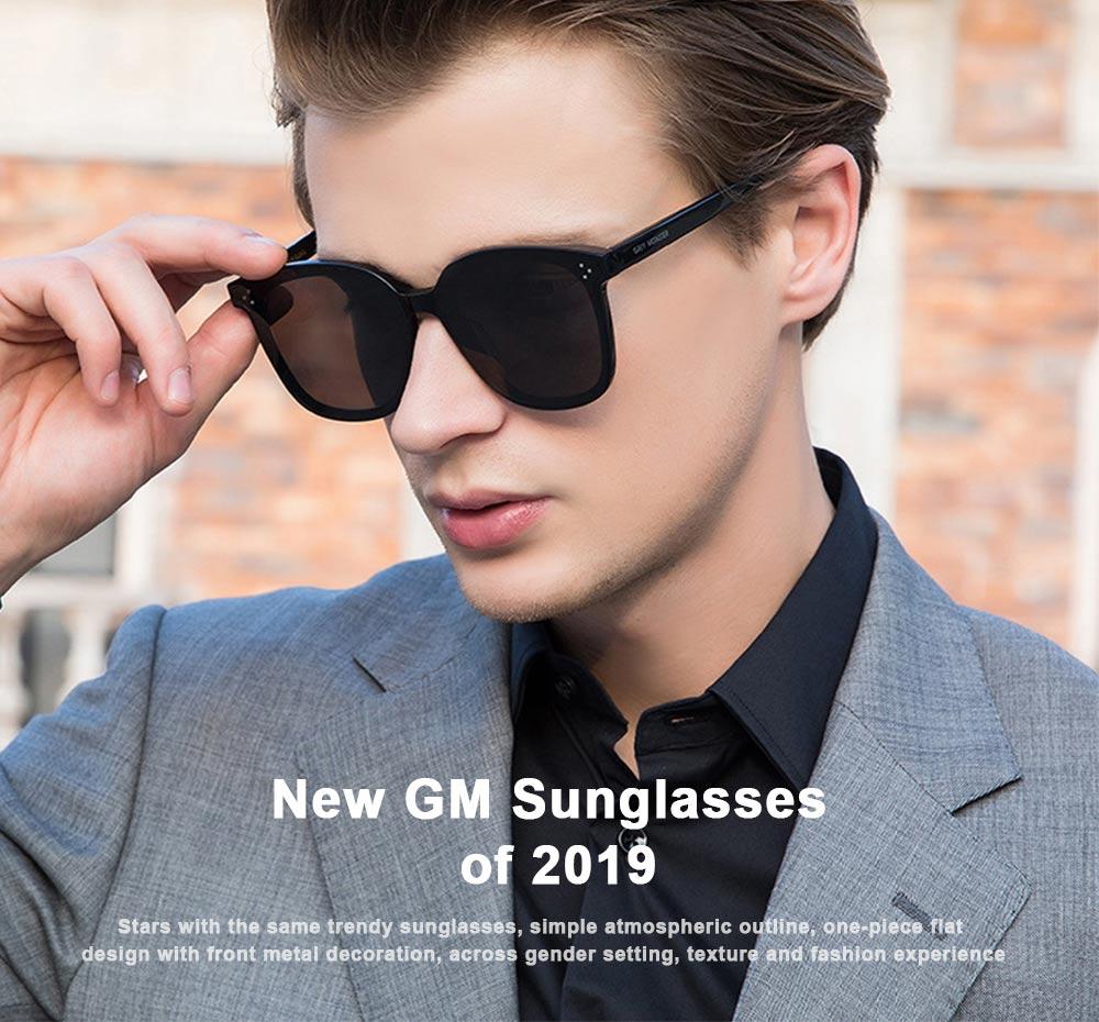 Gm Sunglasses Anti-ultraviolet Box Network Red Man V Brand Sunglasses, Stars With The Same Trendy Sunglasses, Retro Box Classic Trendy Sunglasses 0