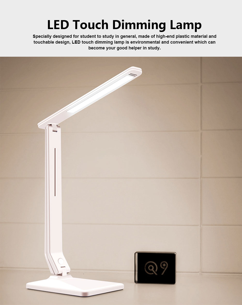 LED Touch Dimming Lamp Eye-protection Lamp for Study Chargeable Bedside Lamp for Children 0