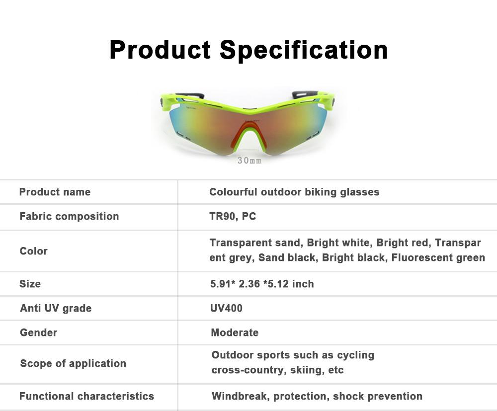 Colourful Outdoor Biking Glasses Sports Outdoor POC Riding Glasses Sandproof Sunglasses 6
