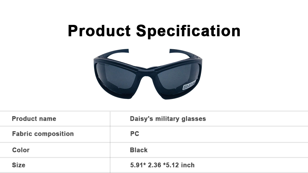 Daisy's Military Glasses Outdoor Cycling Spectacles Motorcycle Goggles Military Exercises Tactical Spectacles 5