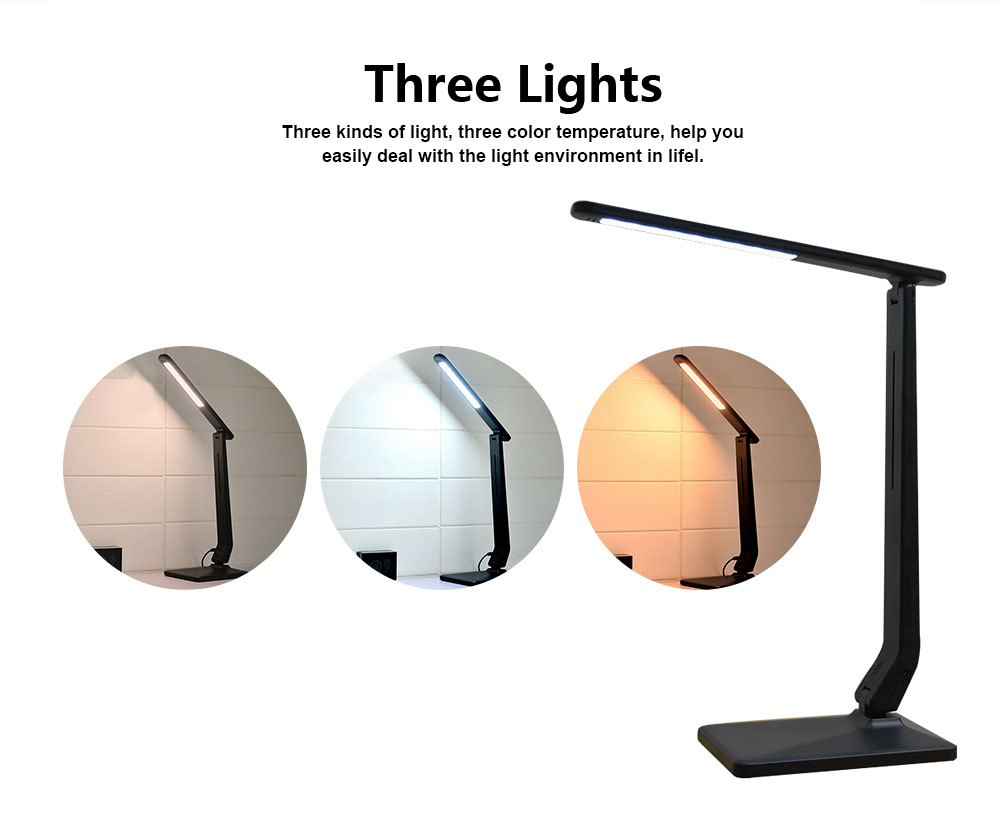 LED Touch Dimming Lamp Eye-protection Lamp for Study Chargeable Bedside Lamp for Children 1