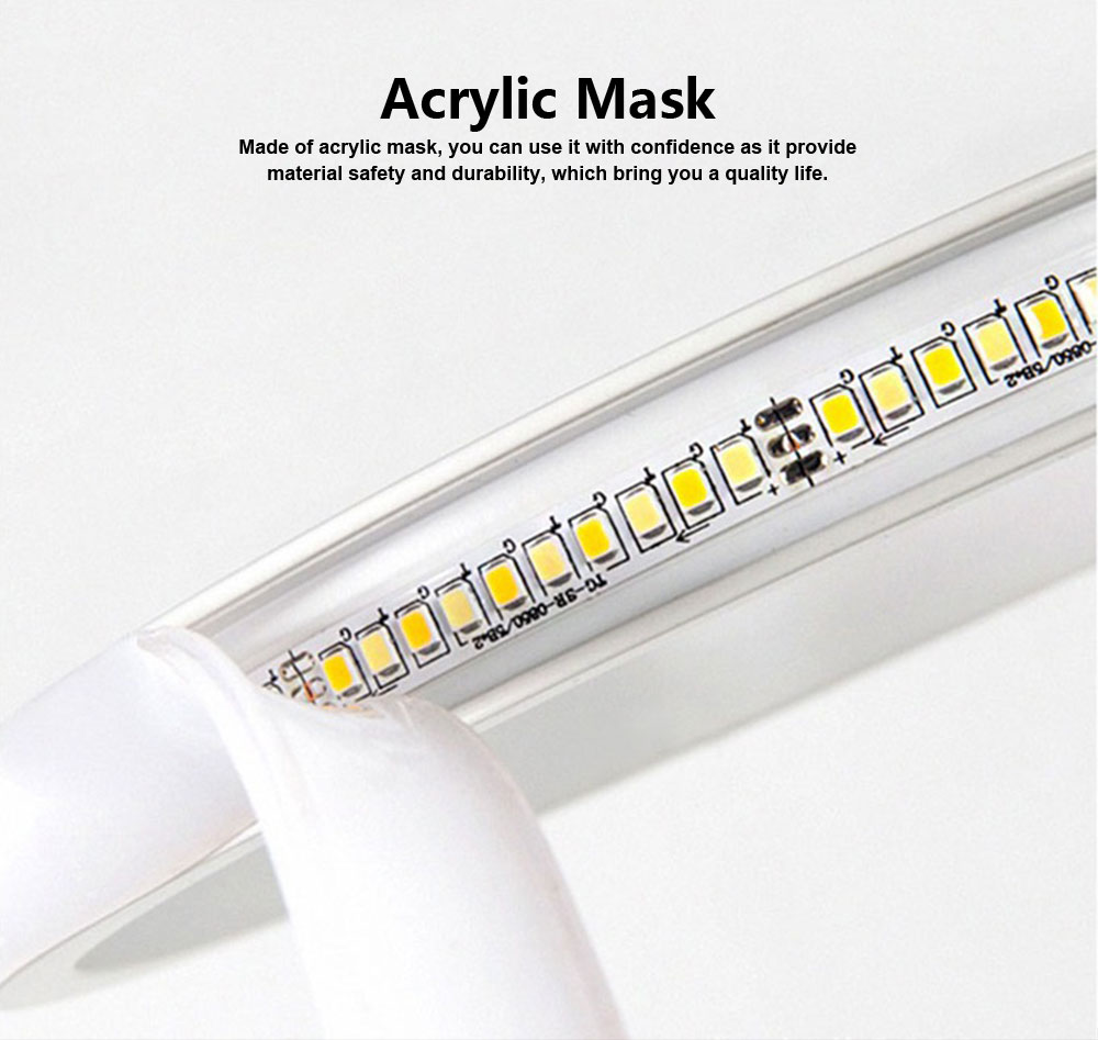Modern Contracted LED Study Lamp Adjustable Acrylic LED Lamp Eye-protection Bedside Night Light 3