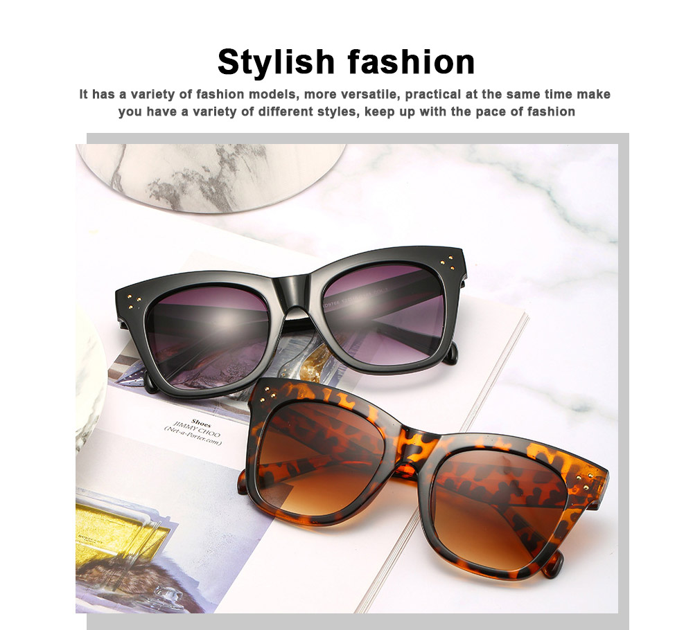 Wind Trend Large Frame Sunglasses in Europe and America Fashion box Sunglasses for Network Red Man Street Photography 2