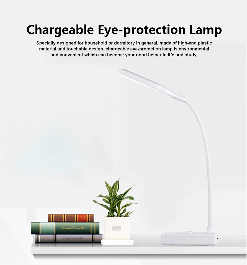 Chargeable Eye-protection Lamp for Study LED Creative Bedside Lamp Chargeable Little Lamp for Student 0