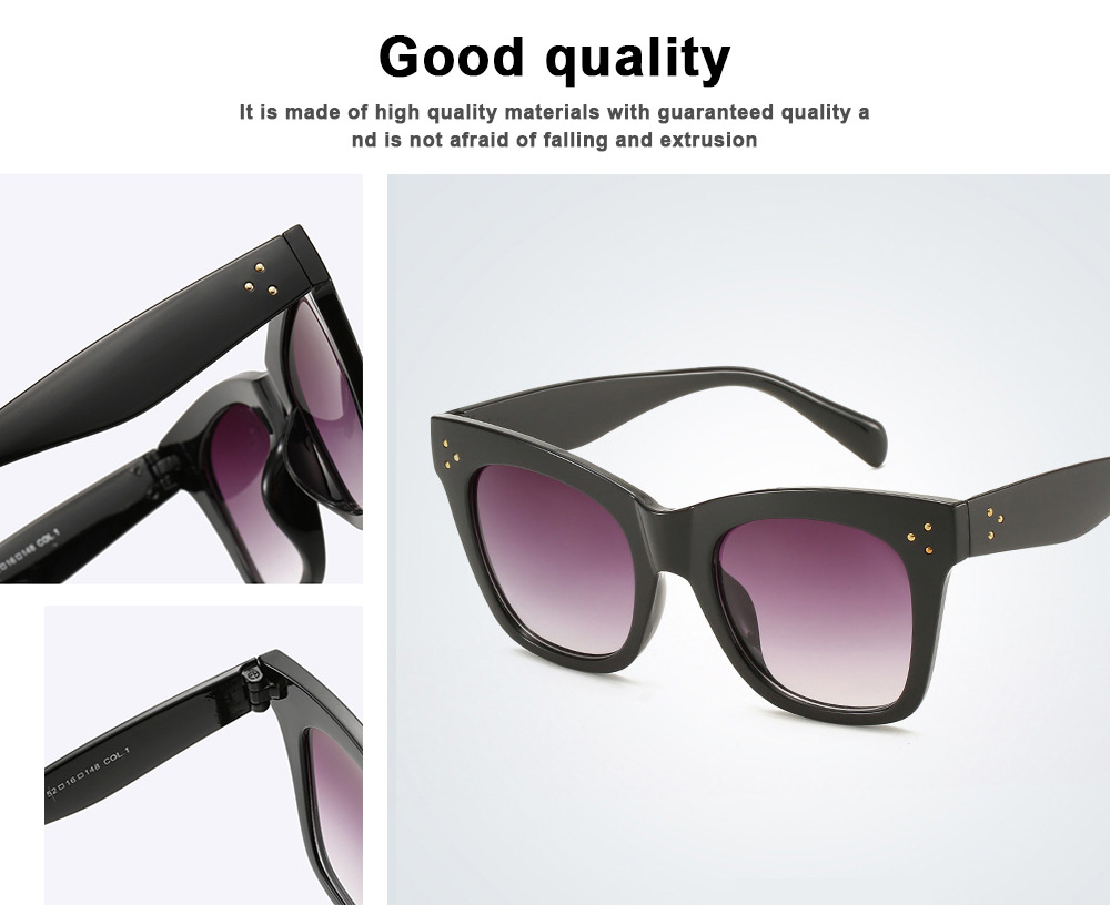Wind Trend Large Frame Sunglasses in Europe and America Fashion box Sunglasses for Network Red Man Street Photography 4