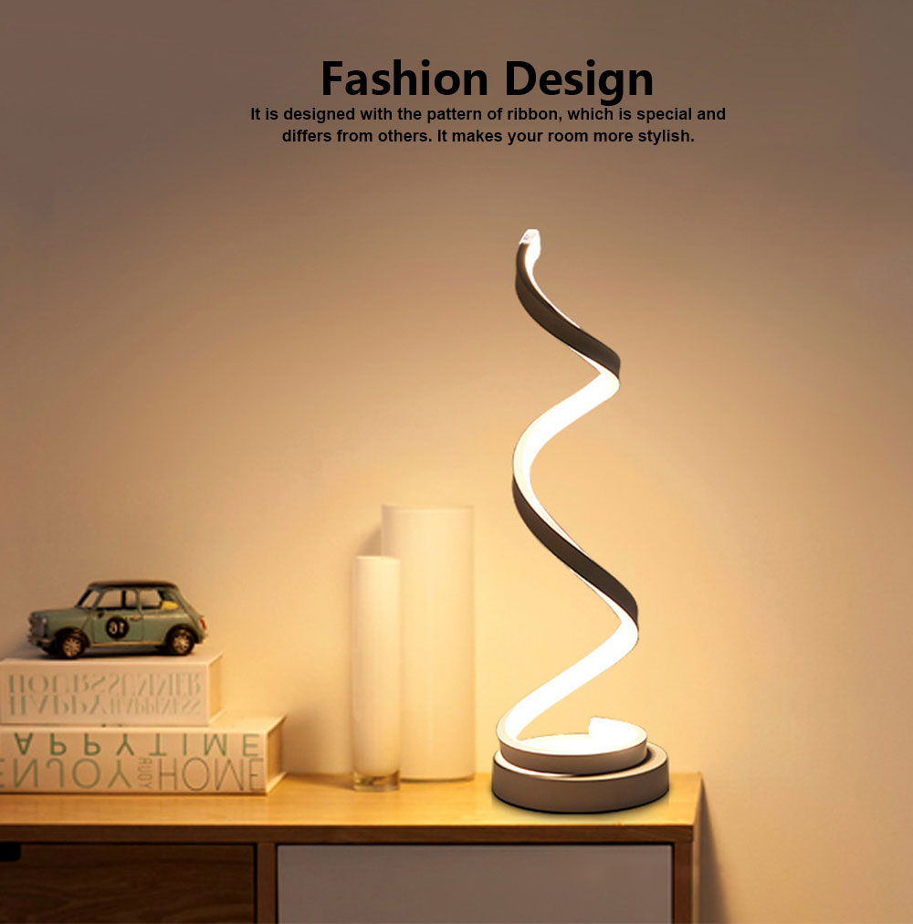 Modern Contracted LED Study Lamp Adjustable Acrylic LED Lamp Eye-protection Bedside Night Light 4