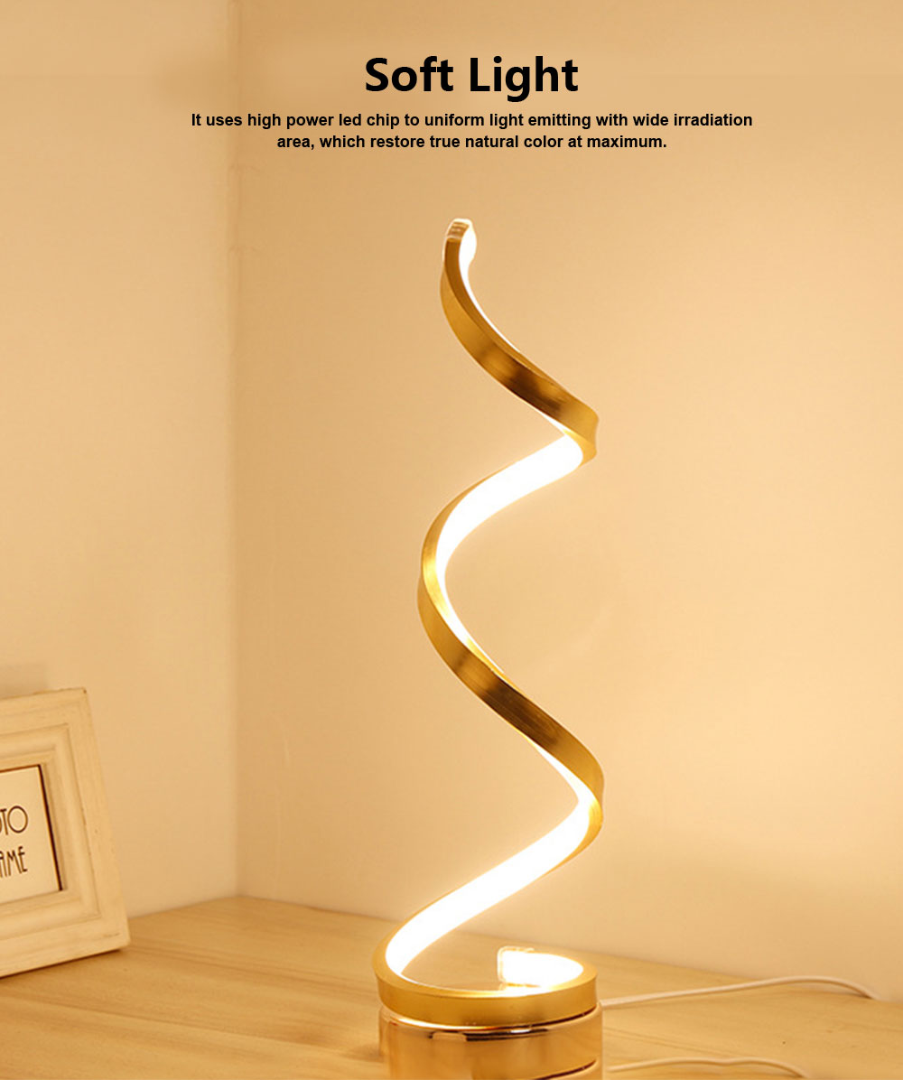 Modern Contracted LED Study Lamp Adjustable Acrylic LED Lamp Eye-protection Bedside Night Light 2