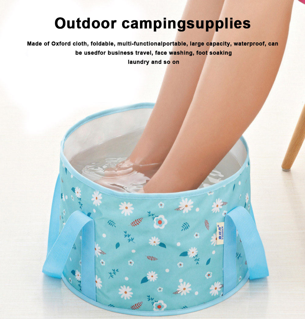 Multifunctional Outdoor Foldable Basin Portable Ultra-Light Water-Dripping Non-Leakage Folding Basin for Outdoor Camping Supplies Equipment 0