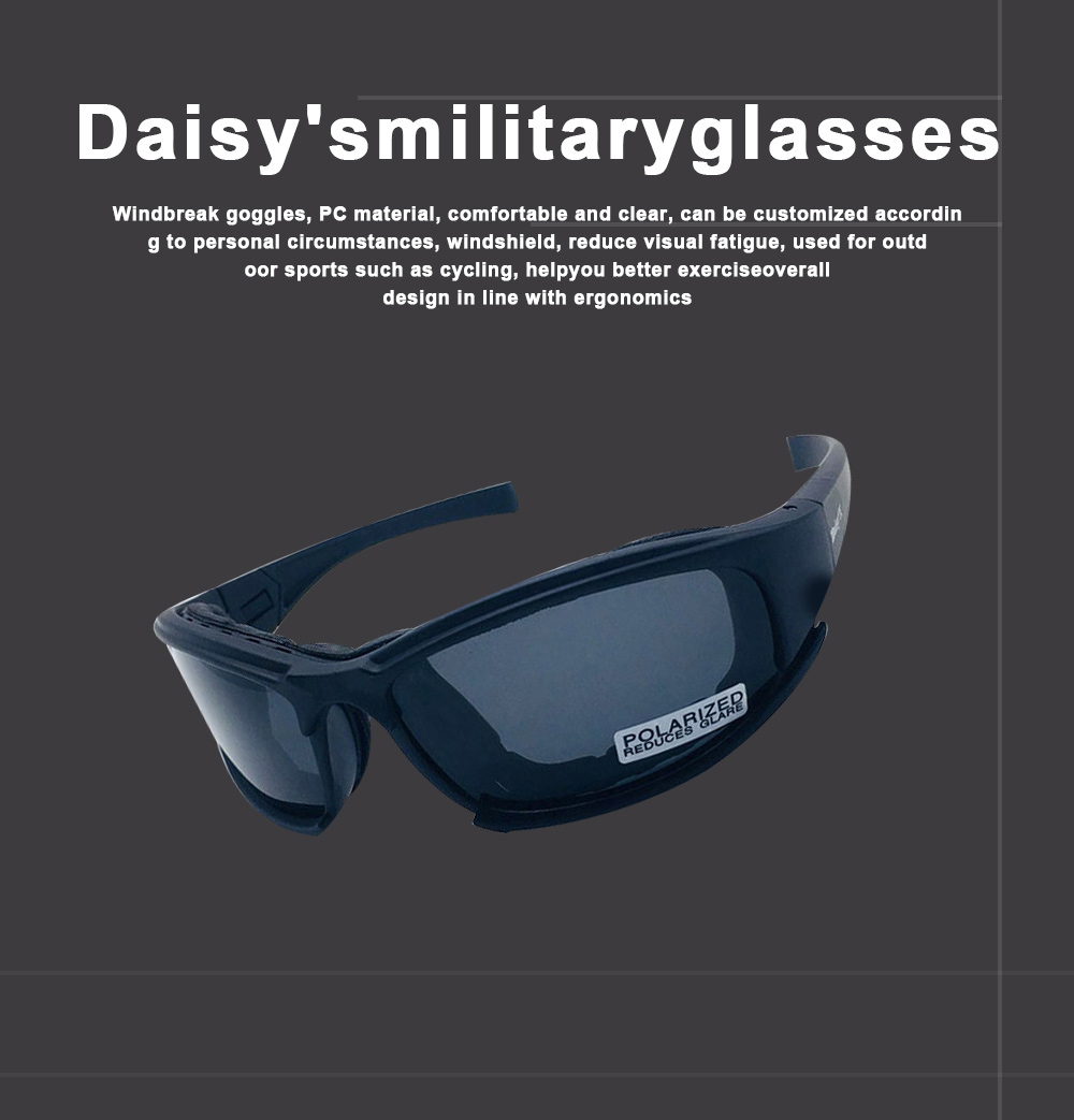 Daisy's Military Glasses Outdoor Cycling Spectacles Motorcycle Goggles Military Exercises Tactical Spectacles 0