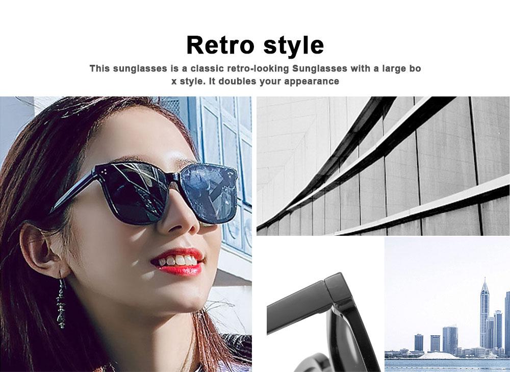 Gm Sunglasses Anti-ultraviolet Box Network Red Man V Brand Sunglasses, Stars With The Same Trendy Sunglasses, Retro Box Classic Trendy Sunglasses 1