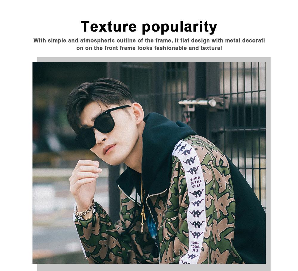 Gm Sunglasses Anti-ultraviolet Box Network Red Man V Brand Sunglasses, Stars With The Same Trendy Sunglasses, Retro Box Classic Trendy Sunglasses 2