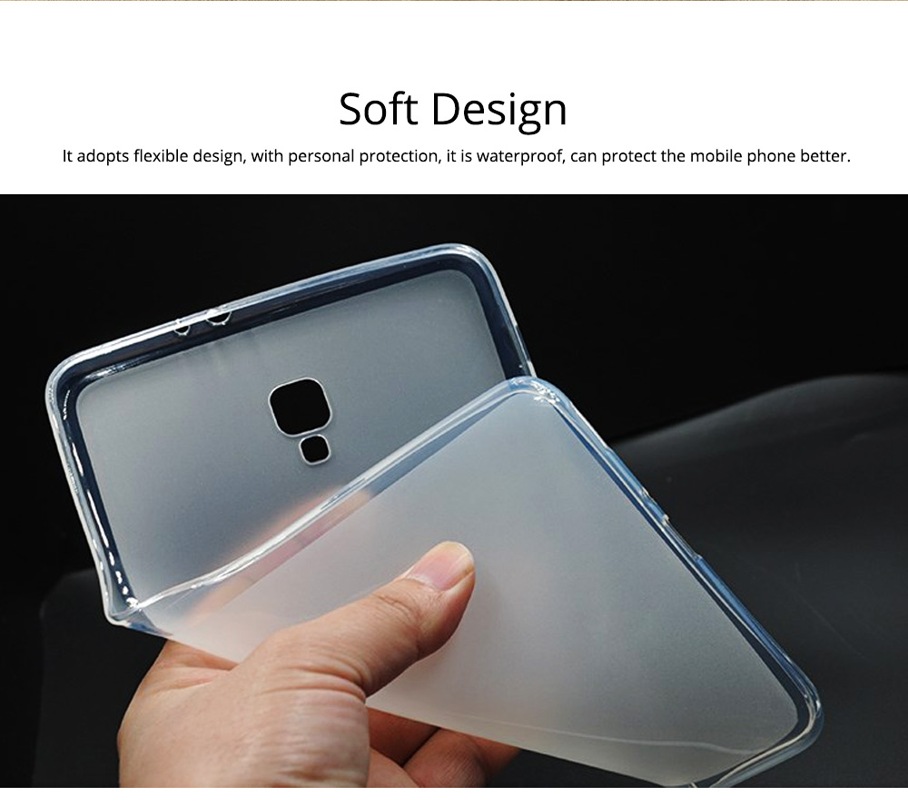 Transparent Waterproof Tempered Glass TPU Back Phone Case For Samsung T590 TPU Mobile Phone Case Protective Cover 4