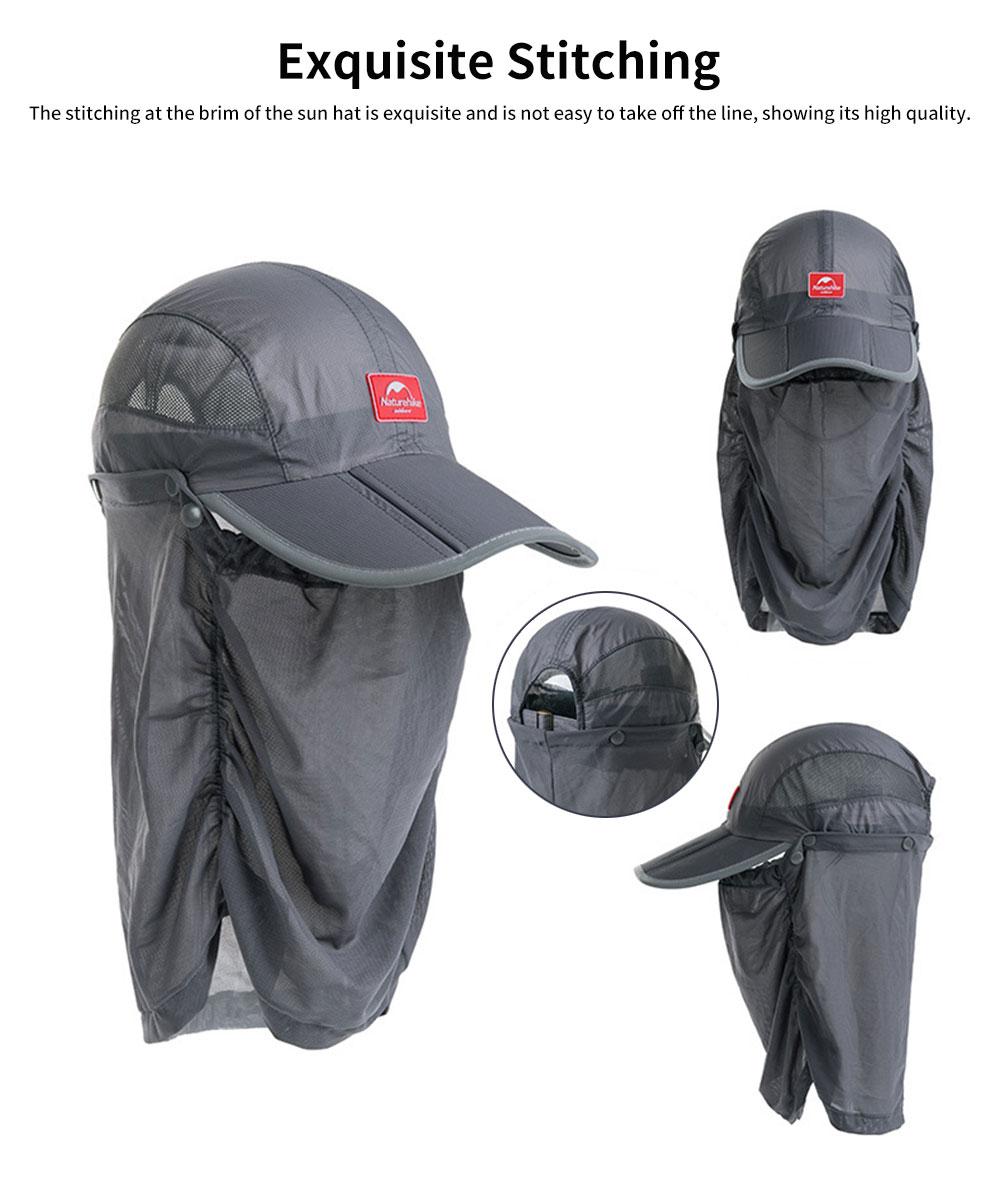NH Outdoor Mesh Fishing Hat Ultra-light Sun Hat Unisex Breathable Cycling Camping Beach Summer Peak Hat 1