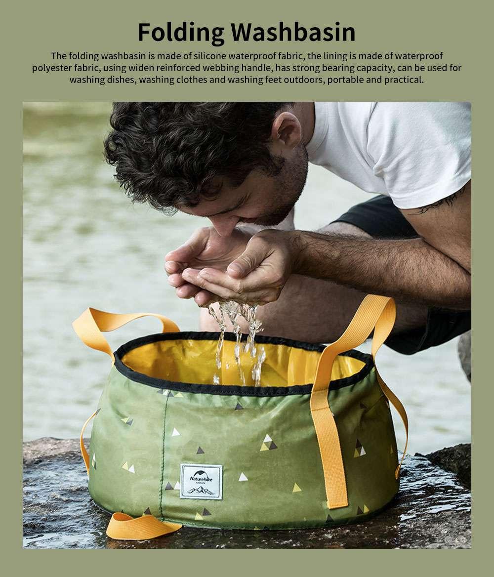 NH Folding Washbasin Water Bucket Environmental PVC Portable Outdoor Hot Water Travel Foot Basin 0