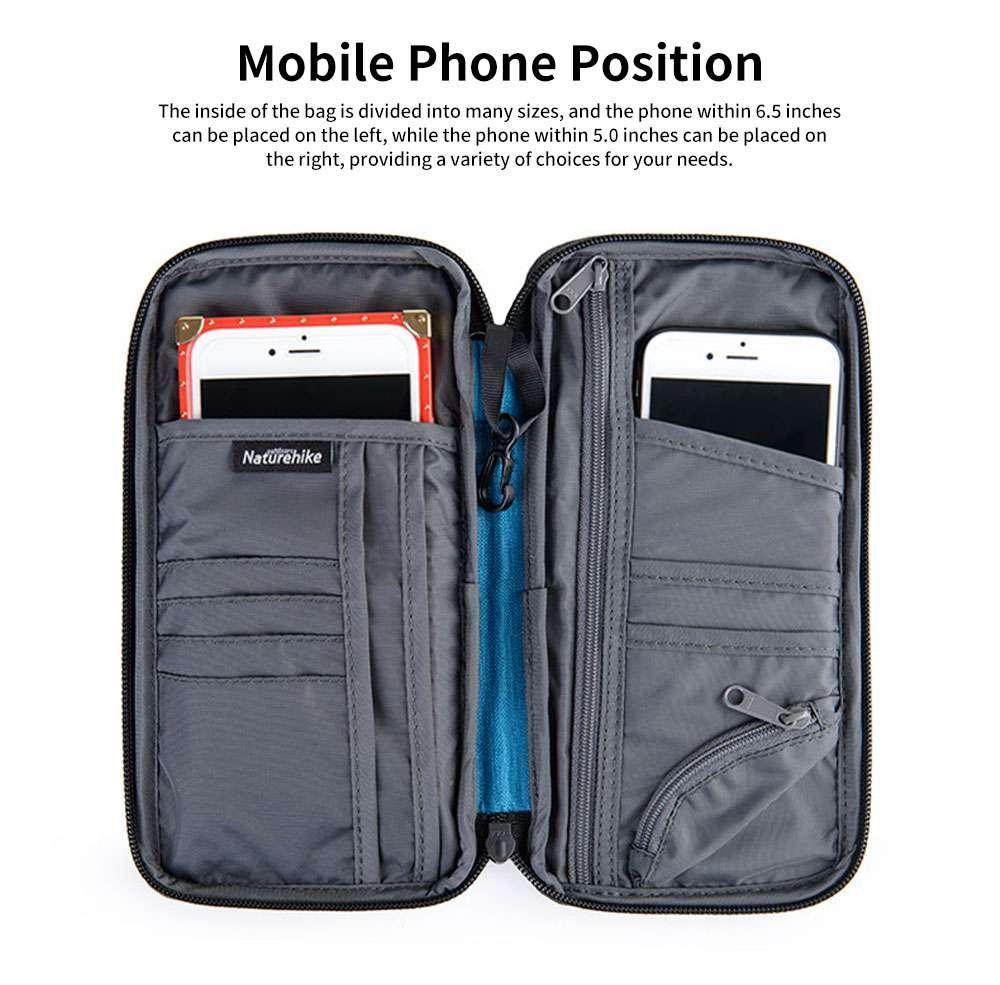 NH Travel Wallet Multifunctional Storage Bag Waterproof Documents Cash Change Passports Zipper Simple Card Holder 2