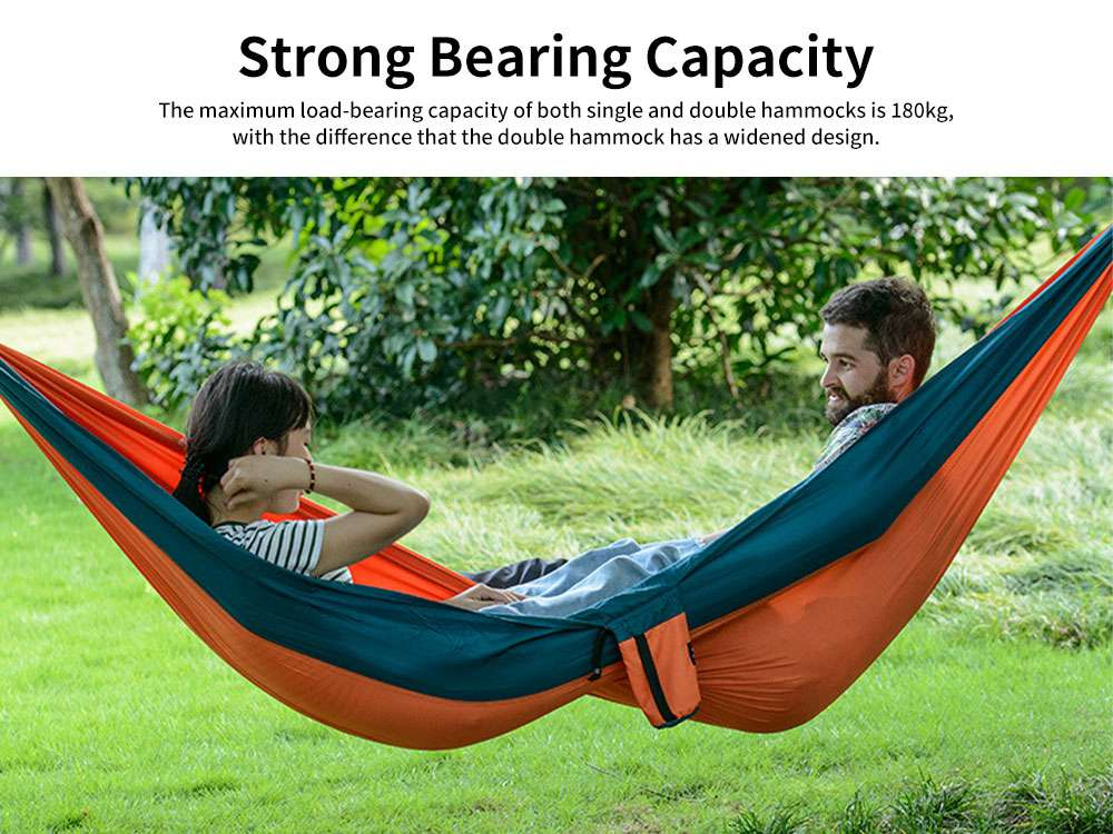 Portable Outdoor Hammock Ultra-light Single Double Travel Camping Leisure Comfortable Safety Trapeze 5