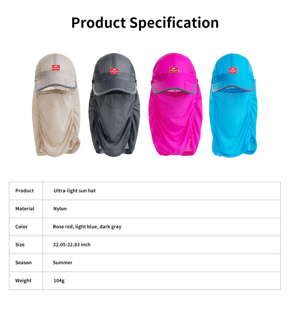NH Outdoor Mesh Fishing Hat Ultra-light Sun Hat Unisex Breathable Cycling Camping Beach Summer Peak Hat 6