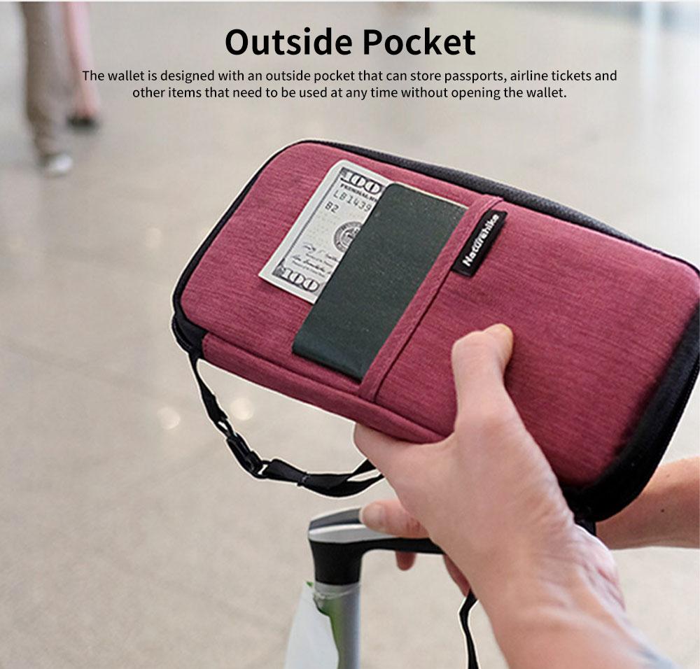 NH Travel Wallet Multifunctional Storage Bag Waterproof Documents Cash Change Passports Zipper Simple Card Holder 3