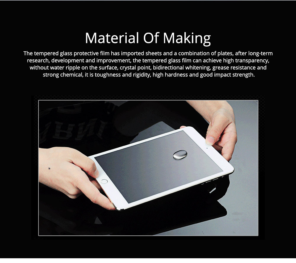 Anti-Explosion Premium Tempered Glass Anti Fingerprint Screen Protector For iPad Screen Guard Film Anti Drop Shockproof 9