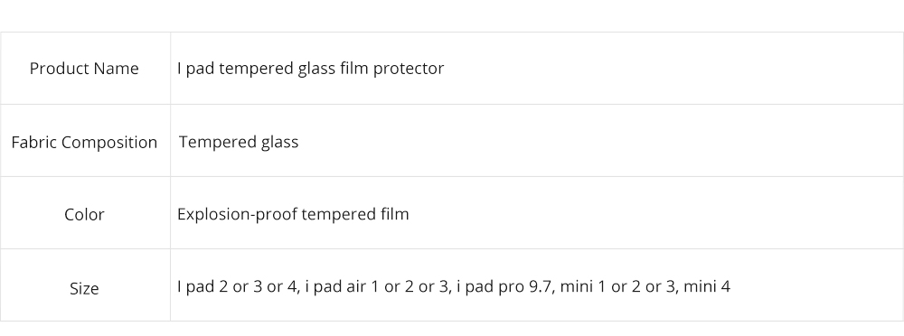 Anti-Explosion Premium Tempered Glass Anti Fingerprint Screen Protector For iPad Screen Guard Film Anti Drop Shockproof 11