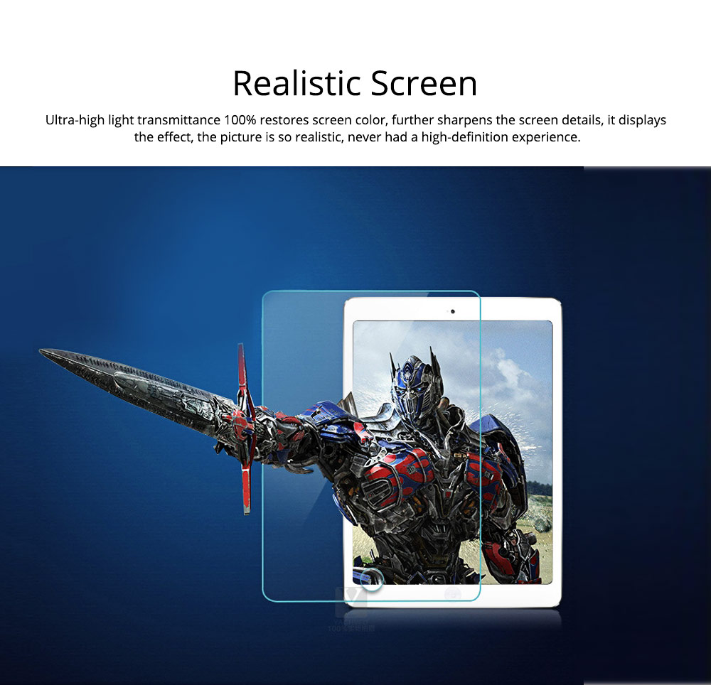 Anti-Explosion Premium Tempered Glass Anti Fingerprint Screen Protector For iPad Screen Guard Film Anti Drop Shockproof 3