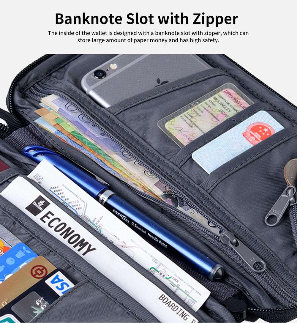 NH Travel Wallet Multifunctional Storage Bag Waterproof Documents Cash Change Passports Zipper Simple Card Holder 5