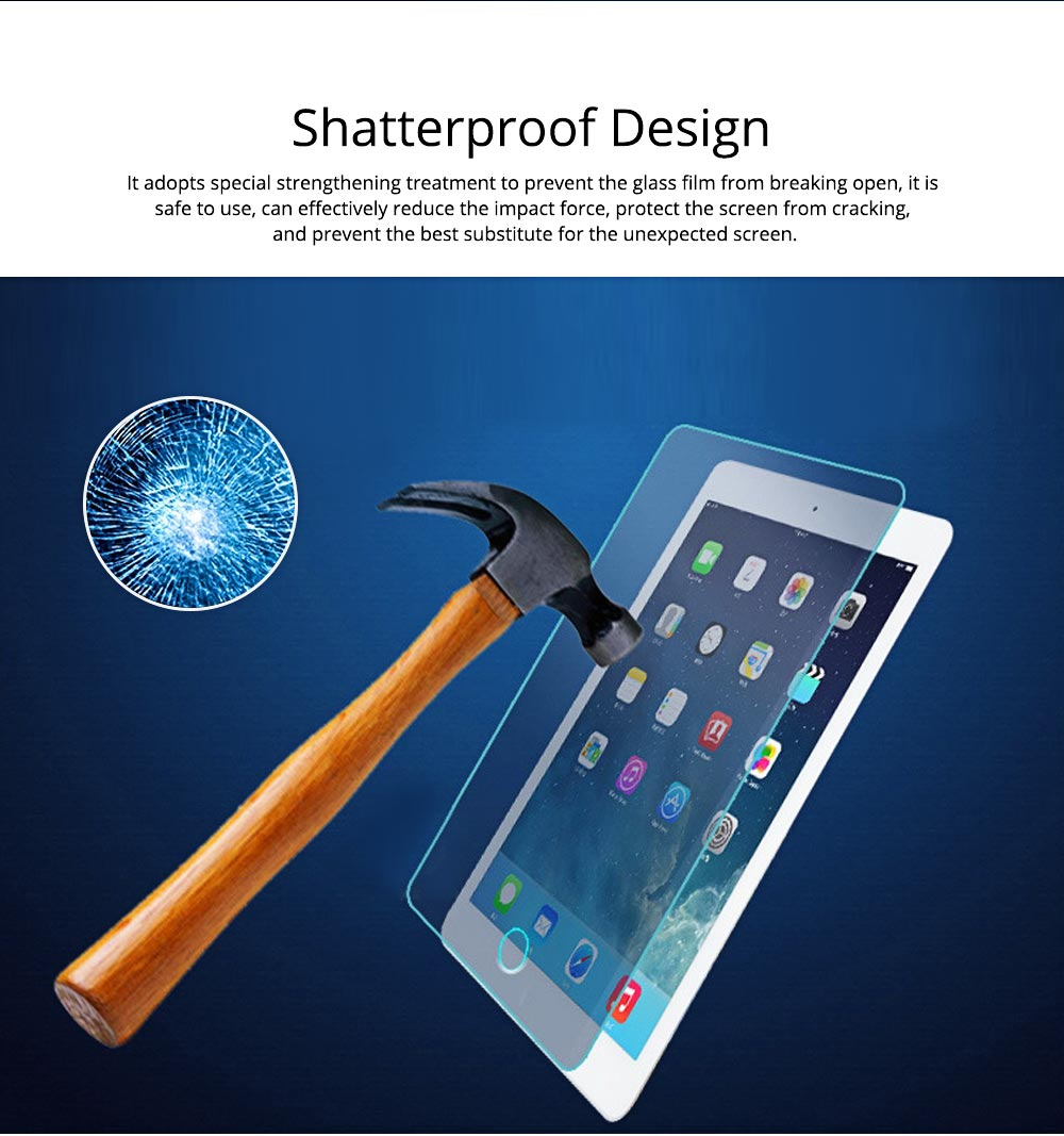 Anti-Explosion Premium Tempered Glass Anti Fingerprint Screen Protector For iPad Screen Guard Film Anti Drop Shockproof 2