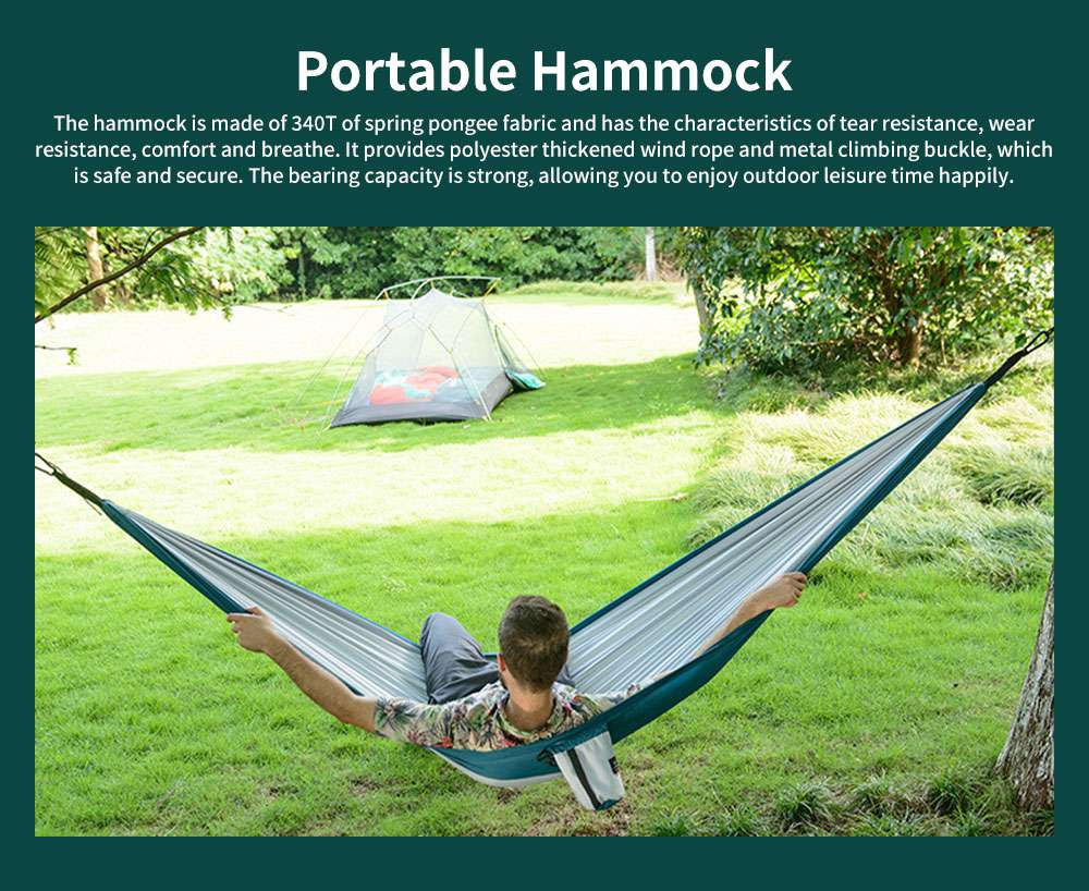 Portable Outdoor Hammock Ultra-light Single Double Travel Camping Leisure Comfortable Safety Trapeze 0