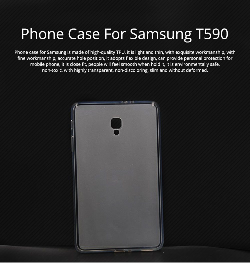 Transparent Waterproof Tempered Glass TPU Back Phone Case For Samsung T590 TPU Mobile Phone Case Protective Cover 0