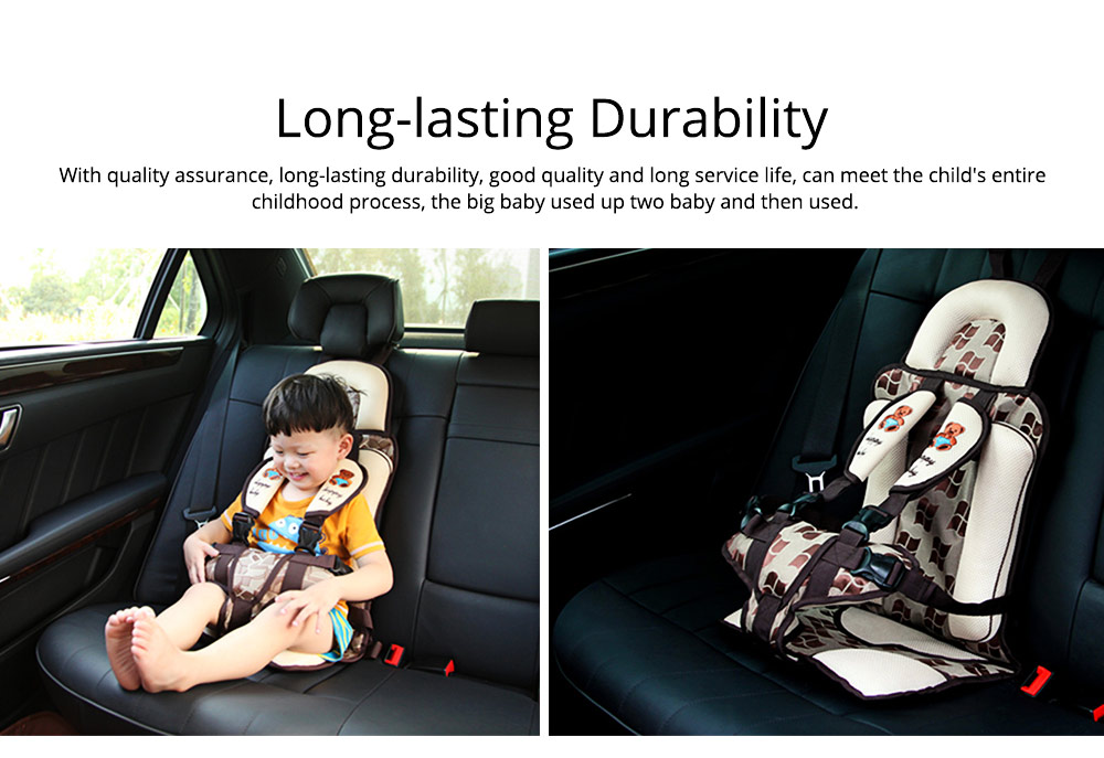Baby Seat Child Safety Seat For Car Portable Head Support Car Seat For 9-36kgs 0-12 Year Baby Fixing With Anti-slip Mat 5