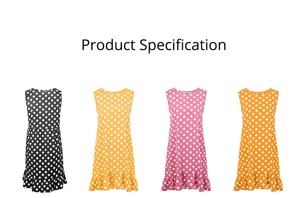 2020 Hot Sell Summer Women Girls Print Polka Dot Dress Ruffle Sleeveless A-Line Casual Loose Short Skirt 6