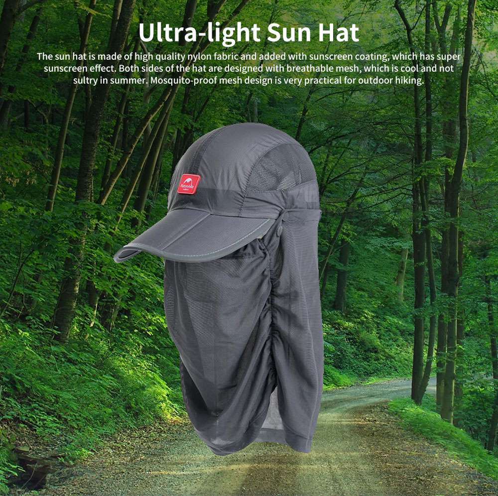 NH Outdoor Mesh Fishing Hat Ultra-light Sun Hat Unisex Breathable Cycling Camping Beach Summer Peak Hat 0