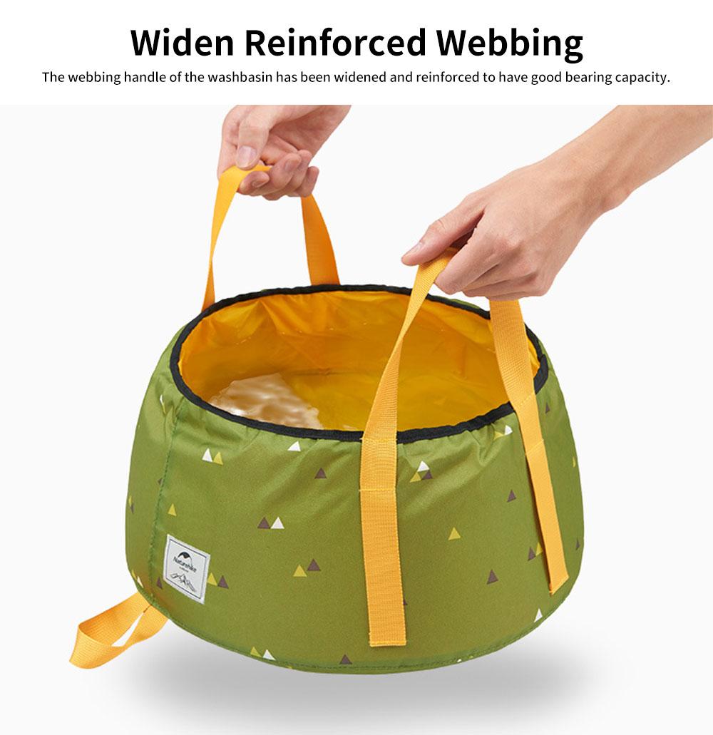 NH Folding Washbasin Water Bucket Environmental PVC Portable Outdoor Hot Water Travel Foot Basin 2