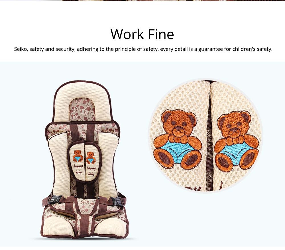 Baby Seat Child Safety Seat For Car Portable Head Support Car Seat For 9-36kgs 0-12 Year Baby Fixing With Anti-slip Mat 4