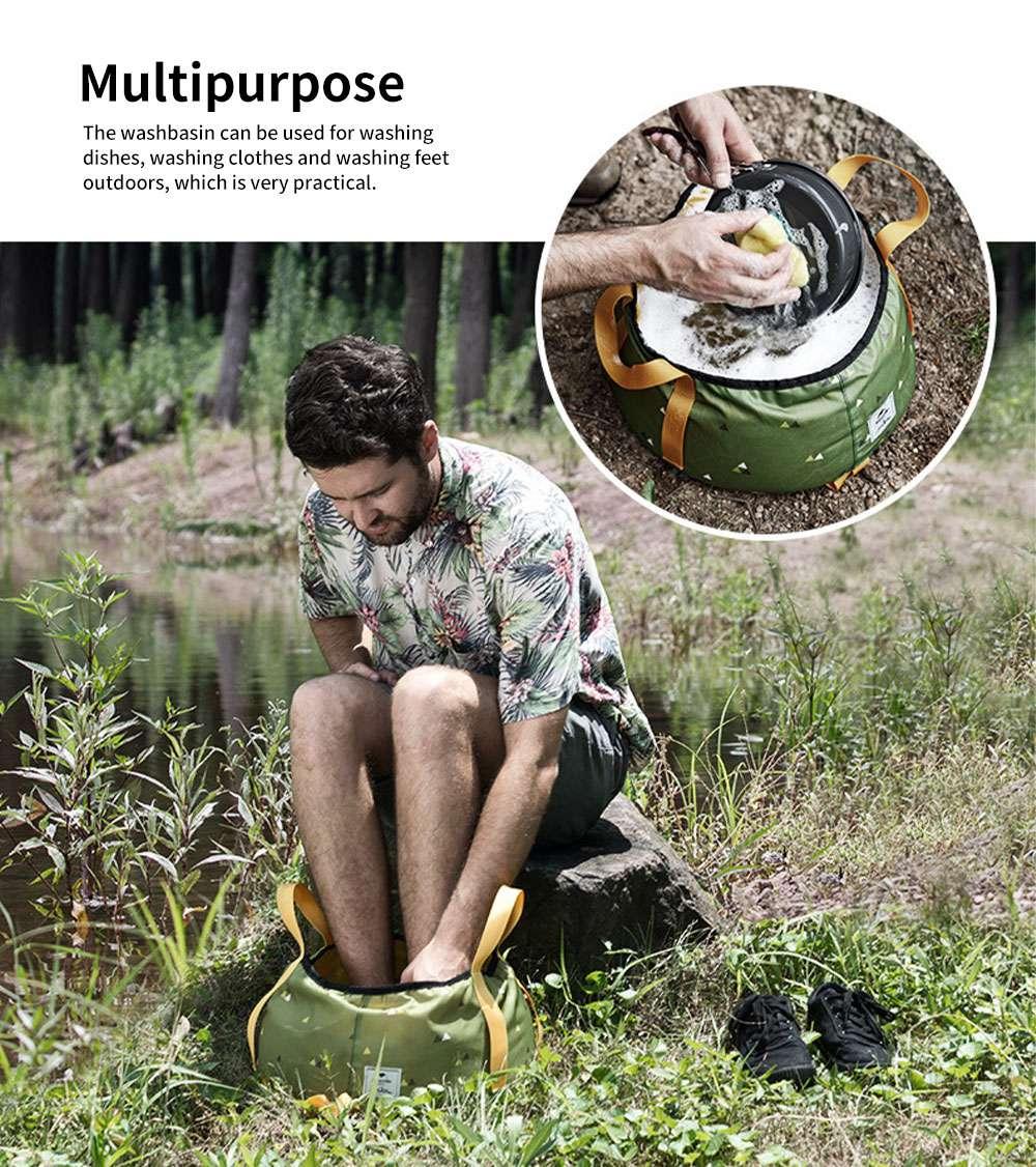NH Folding Washbasin Water Bucket Environmental PVC Portable Outdoor Hot Water Travel Foot Basin 3