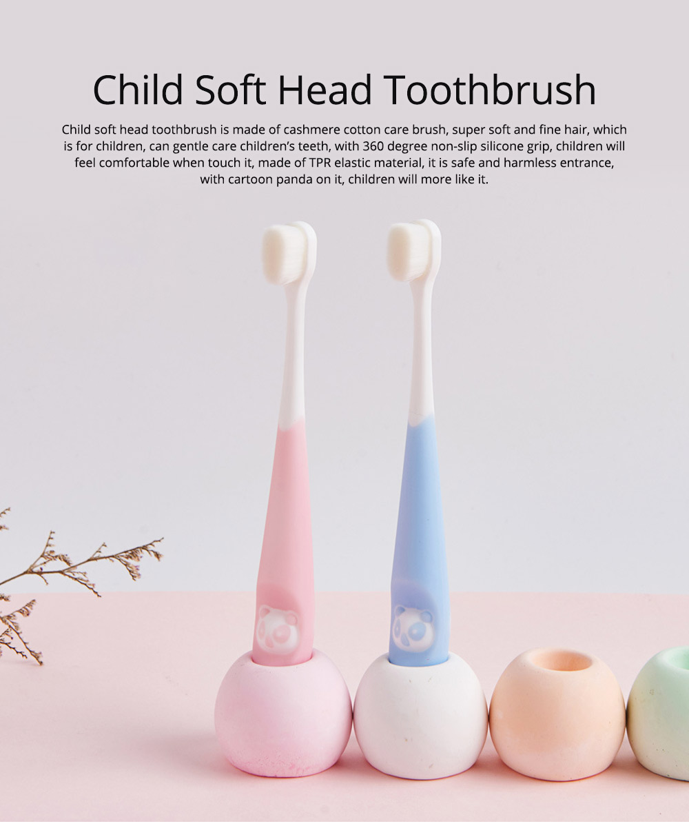 New Child Panda Pattern Toothbrush Small Simple Soft Head Bristle Lovely Promotion For Kids Children 0