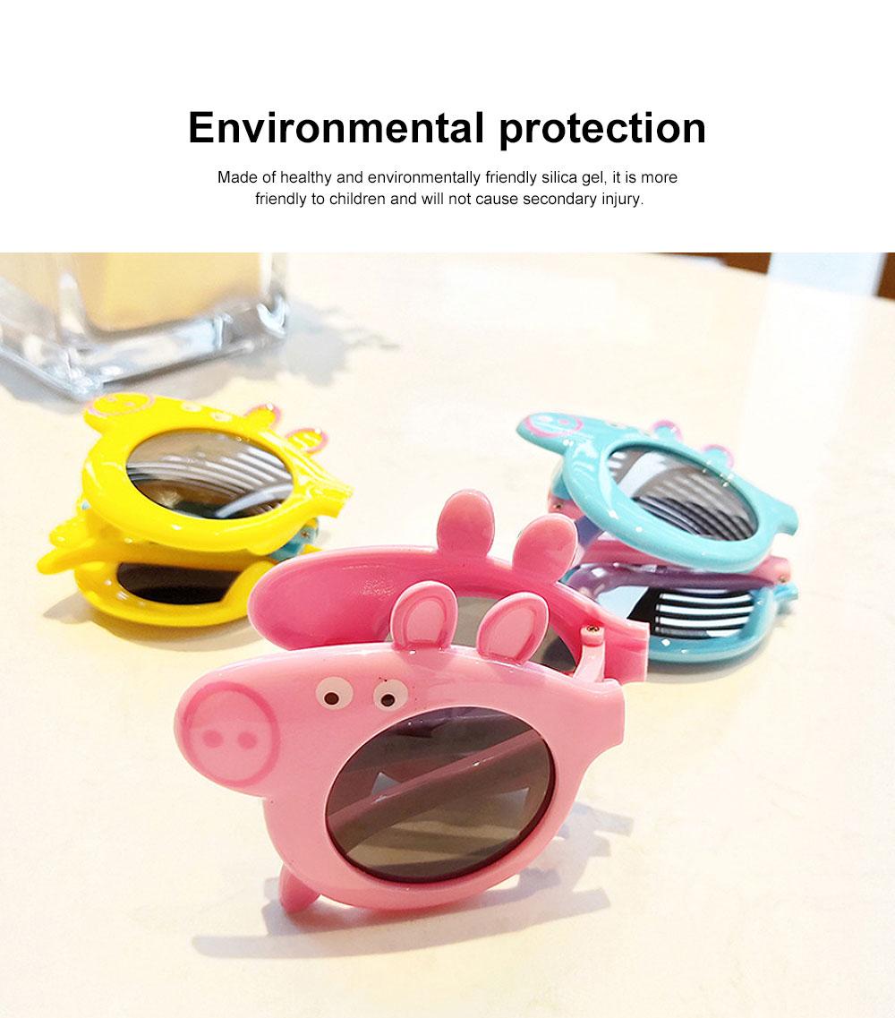 Foldable Piggy-style Children's Sunglasses High-end Upgrade Sunglasses Gift Box for Girls Boys Polarized UV400 Children's Sun Glasses 3