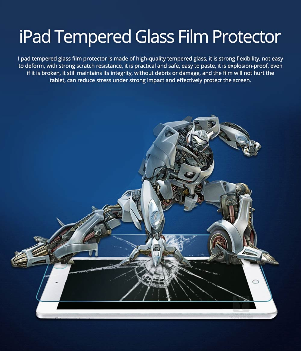 Anti-Explosion Premium Tempered Glass Anti Fingerprint Screen Protector For iPad Screen Guard Film Anti Drop Shockproof 0
