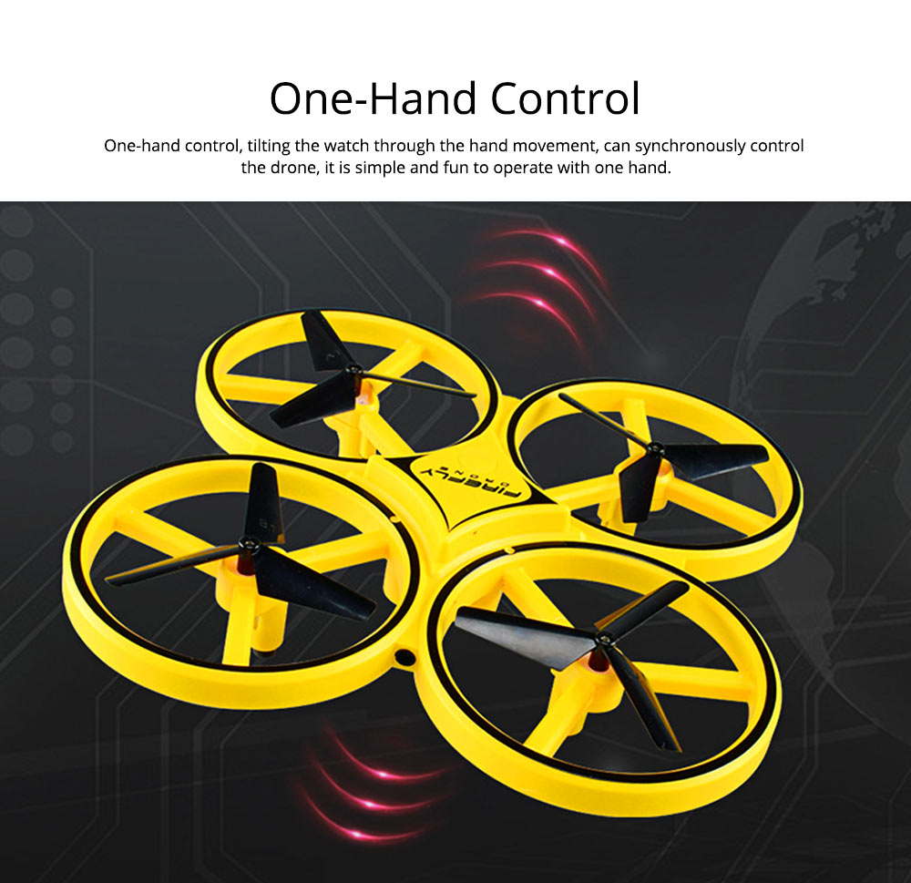 Children's Vehicle Remote Control Aircraft UFO Watch Intelligent Induction Shock Resistance Recharging Four-axis Aircraft Drone Toy 6