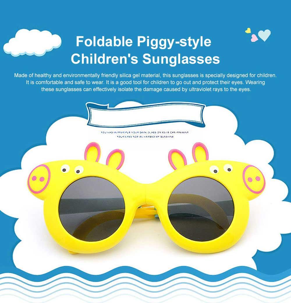 Foldable Piggy-style Children's Sunglasses High-end Upgrade Sunglasses Gift Box for Girls Boys Polarized UV400 Children's Sun Glasses 0