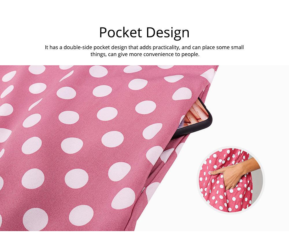 2020 Hot Sell Summer Women Girls Print Polka Dot Dress Ruffle Sleeveless A-Line Casual Loose Short Skirt 2